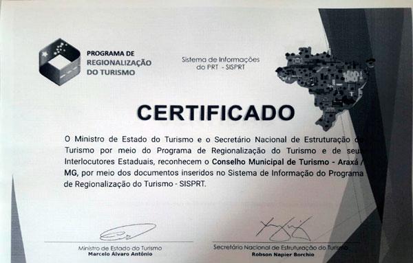 Araxá está incluída no Mapa do Turismo Brasileiro 1