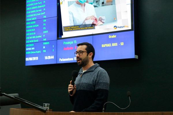 Raphael Rios estimula criação de agenda para debater abertura do curso de Odontologia no Uniaraxá