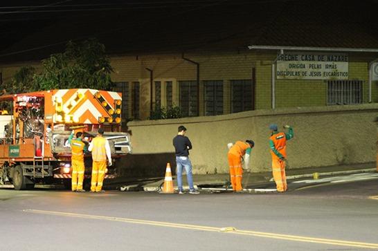 Prefeitura revitaliza a sinalização horizontal de Araxá