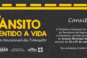 Convite: Semana Nacional de Trânsito em Araxá