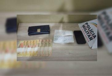 PM prende assaltante e recupera pertences da vítima