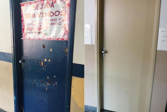 Raphael Rios acompanha manutenção e reparos na Escola Dona Gabriela 2