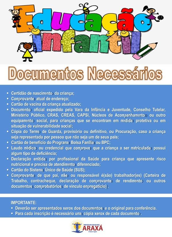 Prefeitura define o calendário de matrículas das escolas municipais de Araxá 2