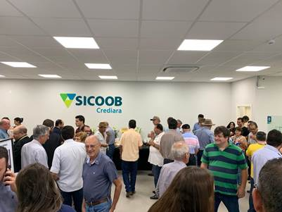 Sicoob Crediara inaugura novas instalações em Santa Juliana 2