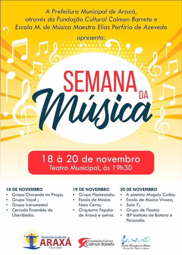 Semana da Música será realizada em Araxá 1