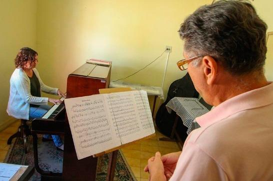 Escola Municipal de Música funciona provisoriamente na rua Rio Branco