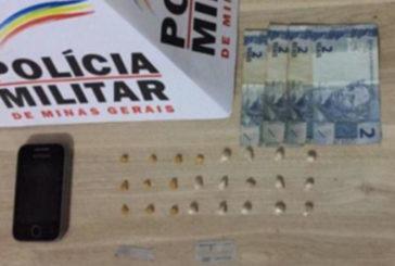 PM prende casal por envolvimento com o tráfico no bairro São Geraldo