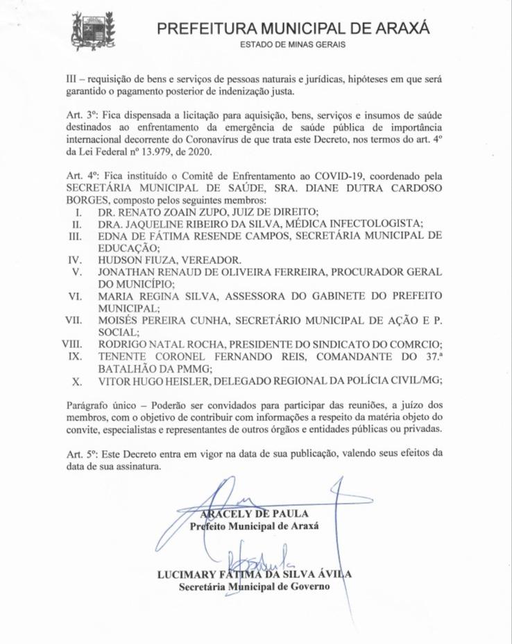 Prefeito declara situação de emergência e anuncia medidas de combate ao Covid-19 2
