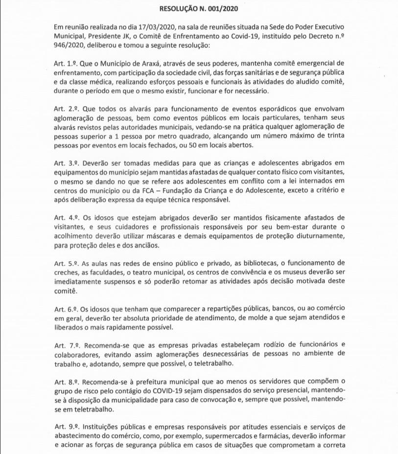 Prefeito declara situação de emergência e anuncia medidas de combate ao Covid-19 3
