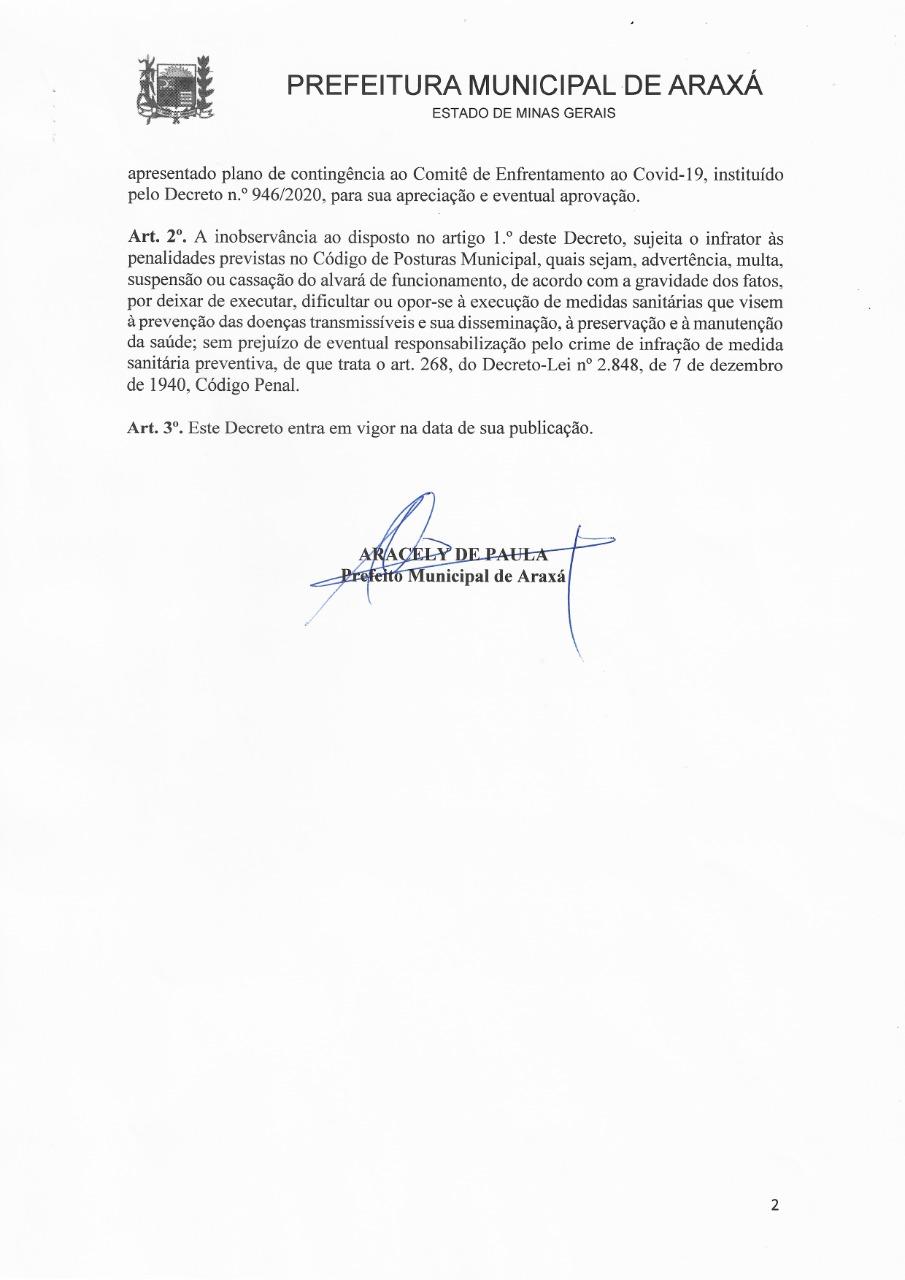 Prefeito assina decreto que proíbe contratação de mão de obra temporária de outros municípios 2