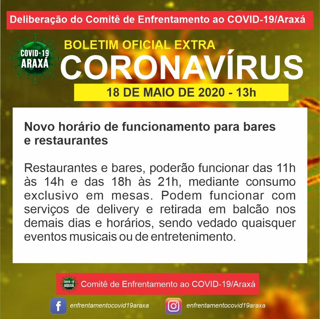 Funcionamento de bares está liberado em Araxá 1