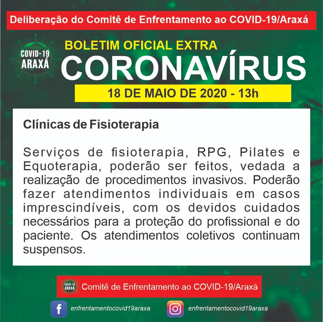 Fisioterapia, pilates, equoterapia e RPG estão liberados em Araxá 1