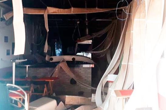 Botijões de gás causam incêndio em pizzaria na avenida Imbiara 1
