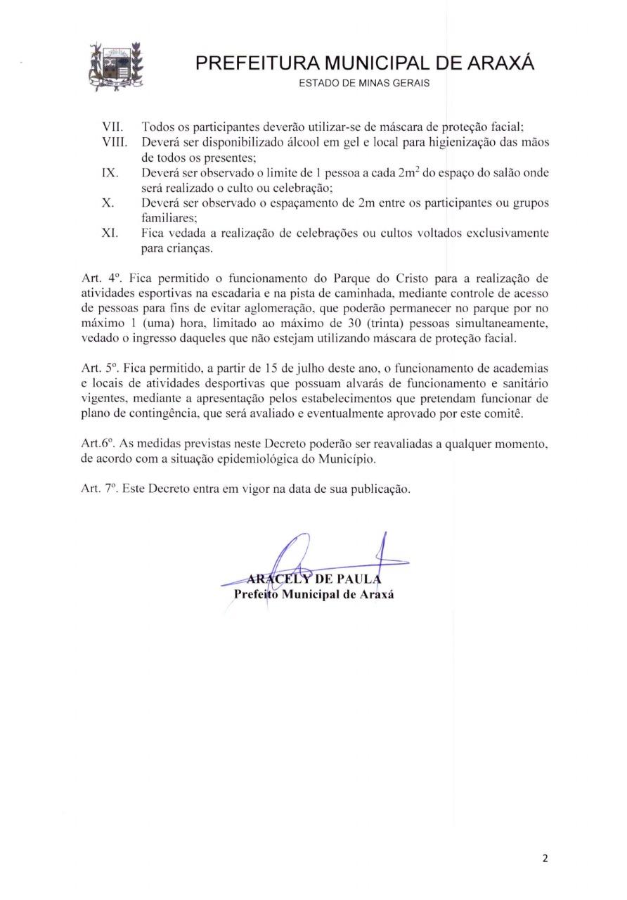 Novo decreto proíbe consumo de bebidas alcoólicas em bares e restaurantes; cultos religiosos e academias voltam a funcionar 2
