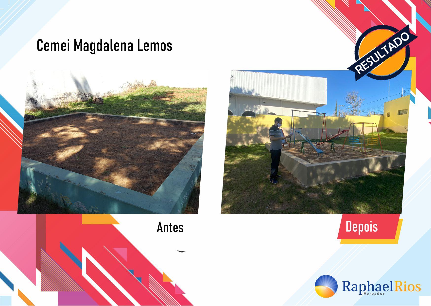 Após fiscalização, Raphael Rios confere reforma geral do Cemei Magdalena Lemos 2