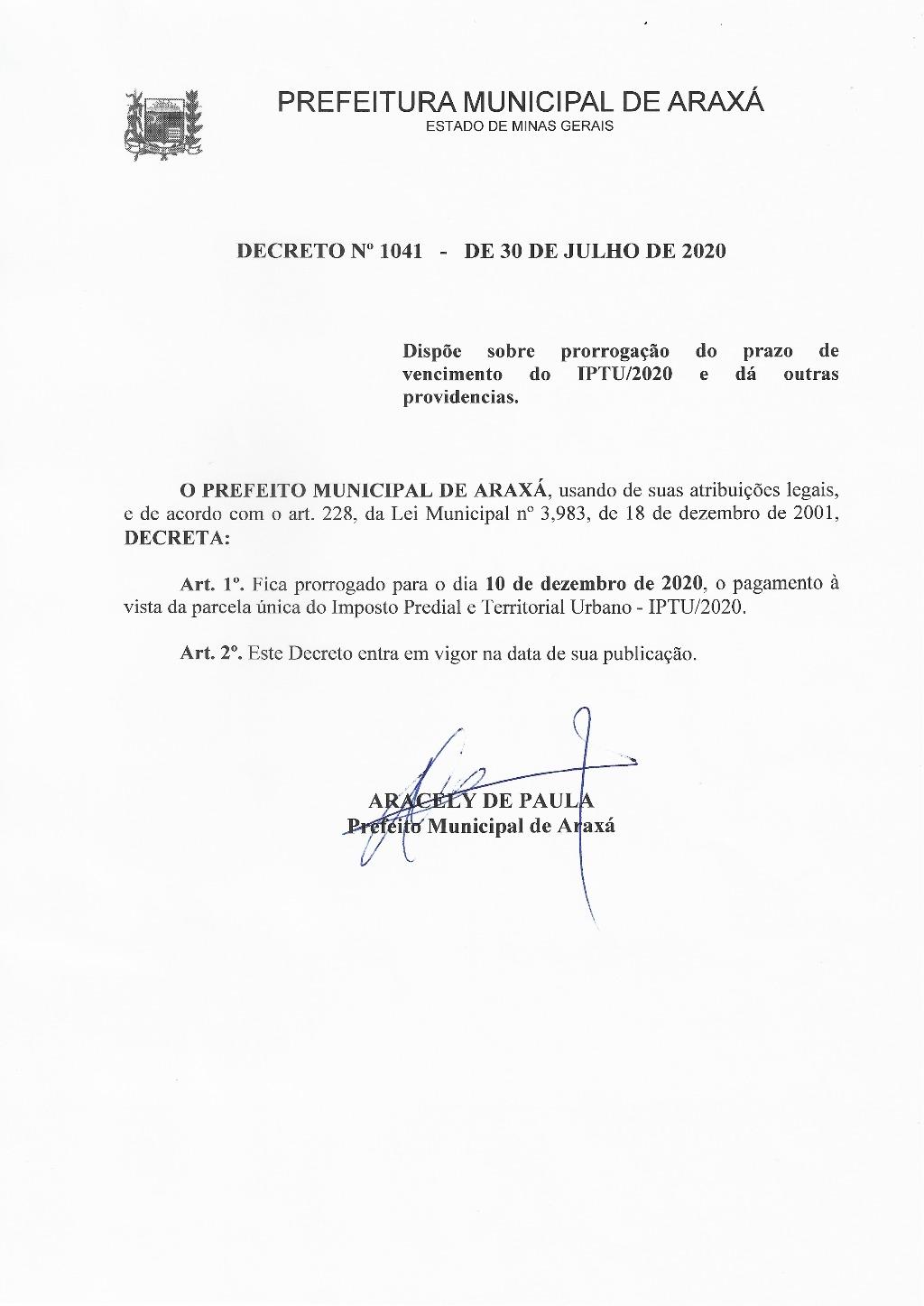 Parcela única do IPTU pode ser paga até o dia 10 de dezembro 1