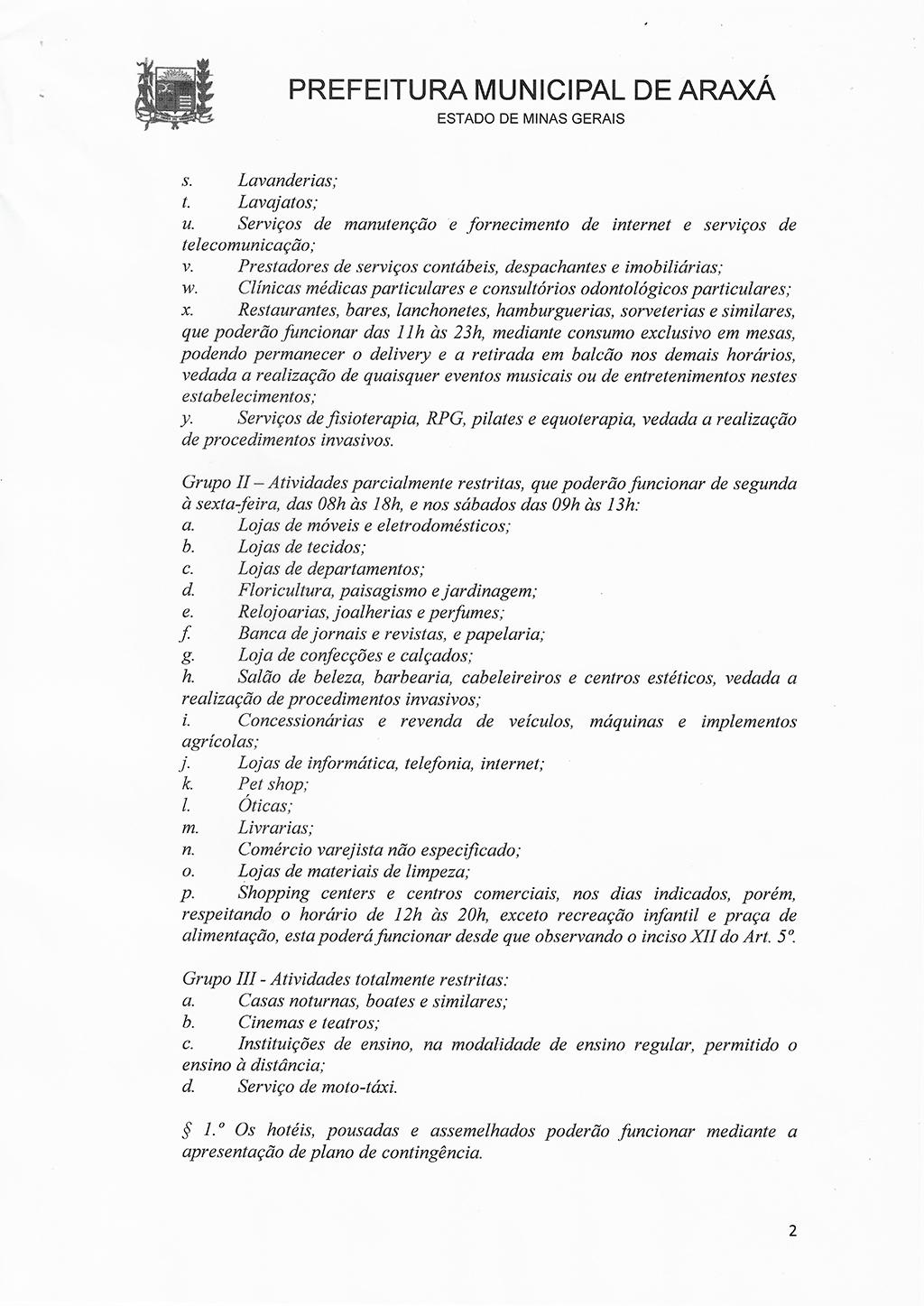 Prefeitura e Comitê de Enfrentamento à Covid-19 liberam funcionamento do comércio em horário normal 2