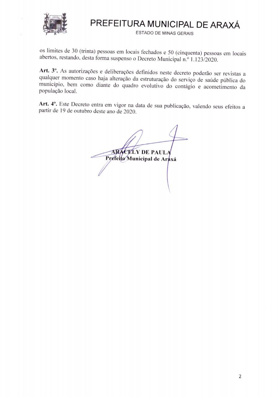 Decreto proíbe atendimento presencial em bares e restaurantes de Araxá entre 19 de outubro e 2 de novembro 2