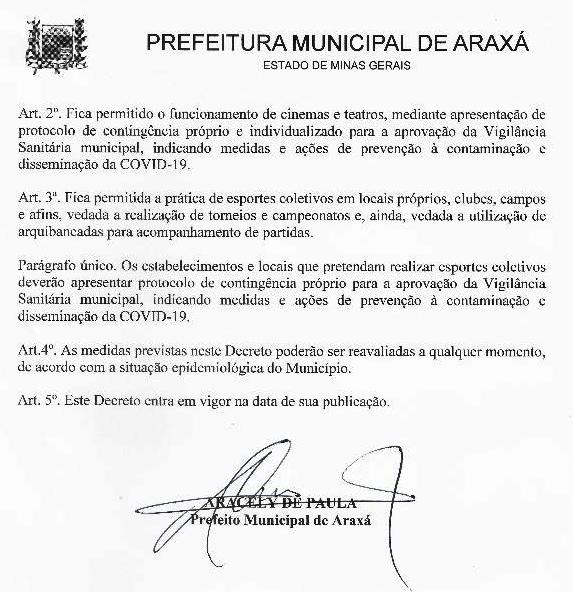 Decreto estipula horário do comércio até 2 de janeiro e libera funcionamento de cinemas, teatros e esportes coletivos, mediante plano de contingência 2