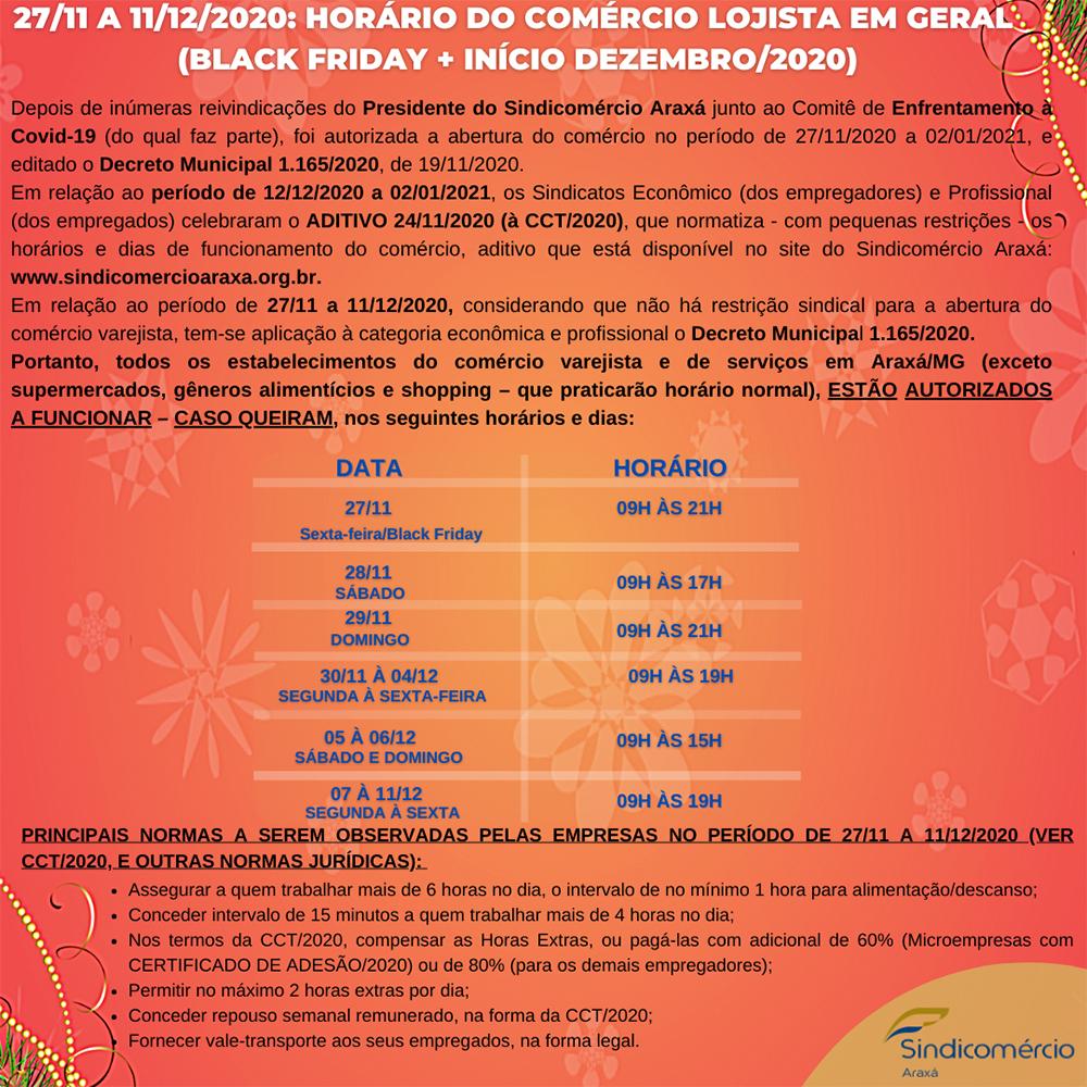 Confira o horário de funcionamento do comércio para a Black Friday e início de dezembro 1