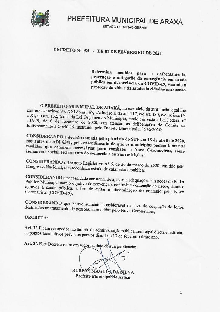 Prefeitura cancela pontos facultativos e elabora projeto de lei para revogar feriado de Carnaval 1