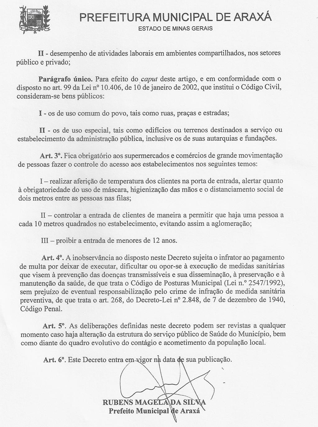 Comitê de Enfrentamento ao Covid-19 de Araxá define novas restrições 3
