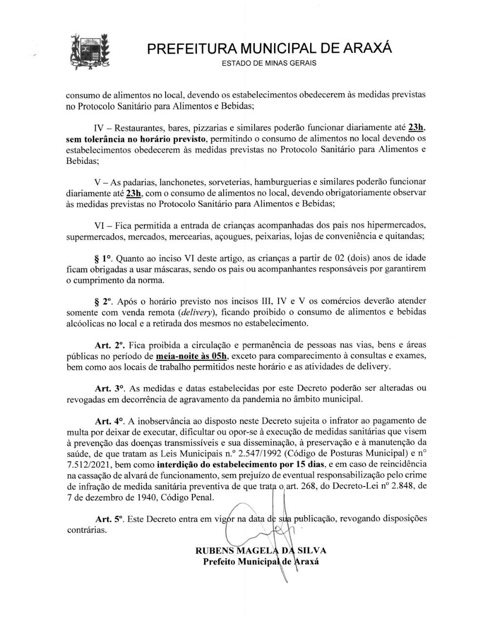 Novo decreto flexibiliza horário de funcionamento do comércio 2