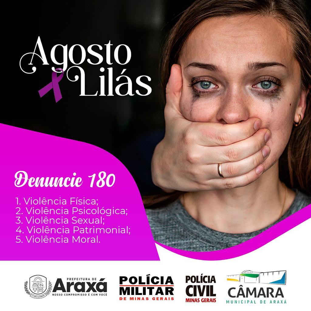 Caminhada do Agosto Lilás em Araxá marca 15 anos da Lei Maria da Penha 2