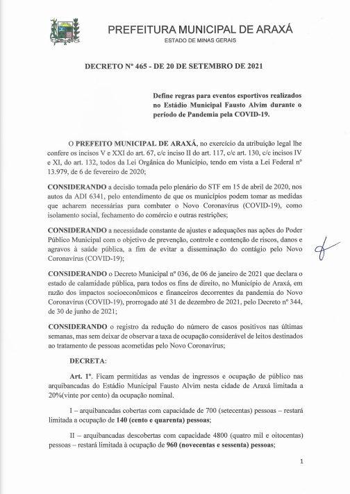 Prefeitura define novas regras para eventos esportivos no Fausto Alvim durante a pandemia 1
